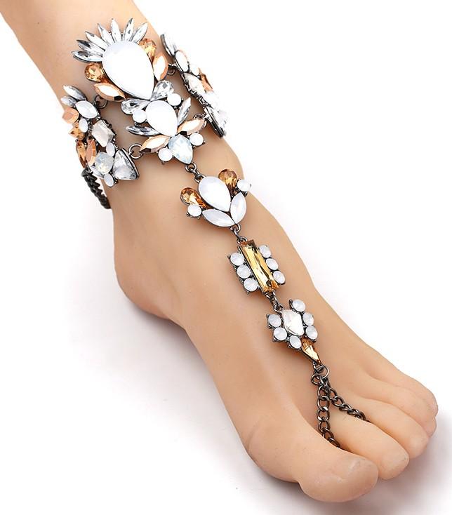 Hand- und Fußkette Ibiza Bronzeglanz