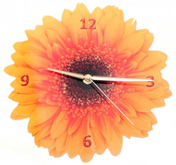 Design Wanduhr - Gerbera - Uhr