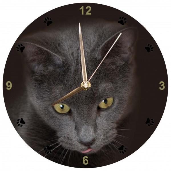 Schwarze Katze Uhr