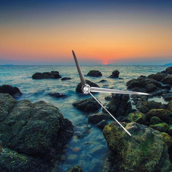 Sonnenuntergang am Meer - Wanduhr