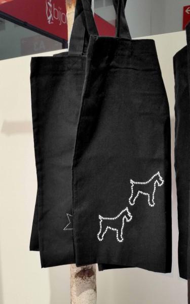 """Strass-Tasche """"Hunde"""" 38x42 cm"""