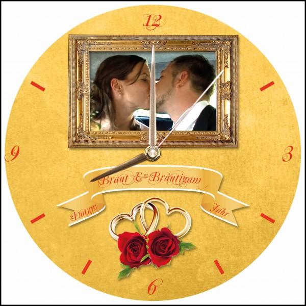 Hochzeits-Uhr Design 3 rund