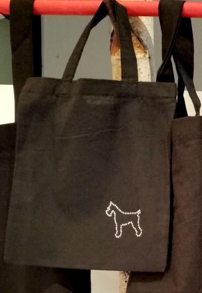 """Strass-Tasche """"Hund"""" 21x24 cm"""