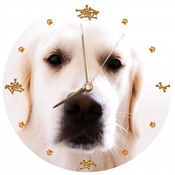 """Hunde Uhr """"Golden Retriever"""" Variante 1"""