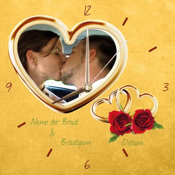 Hochzeits-Uhr Design 1