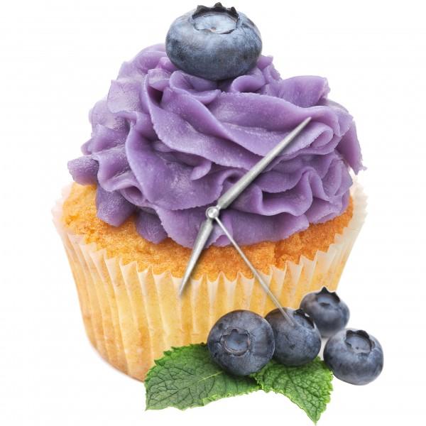 Heidelbeer-Muffin - Uhr