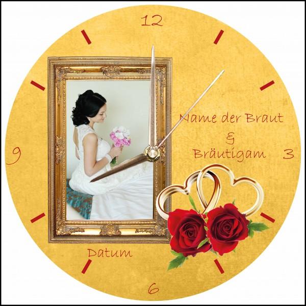 Hochzeits-Uhr Design 5 rund