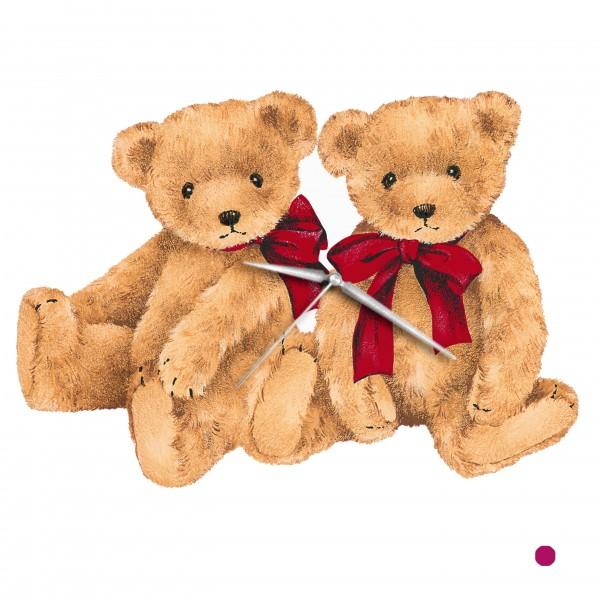 Design Wanduhr - Teddybären - Uhr