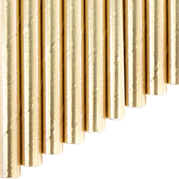 Knickhalme aus Papier - Gold