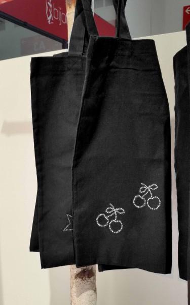 """Strass-Tasche """"Kirschen"""" 38x42 cm"""