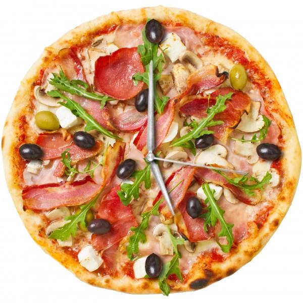 Design Wanduhr - Pizza - Uhr