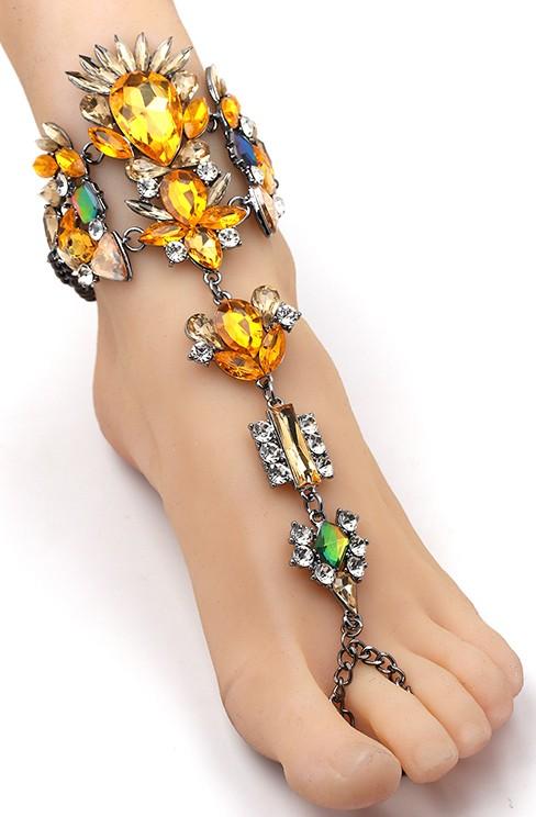 Hand- und Fußkette Ibiza - Sonnenglanz