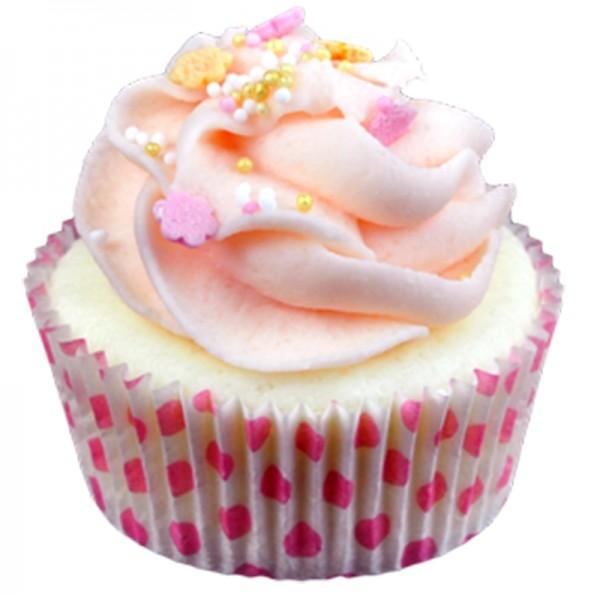 Bade-Cupcake Rosa Wölkchen