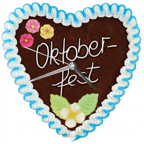 Lebkuchenherz - Uhr Oktoberfest