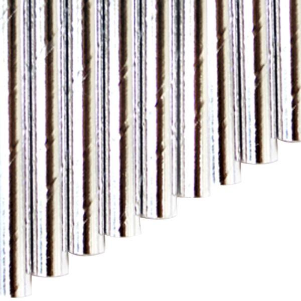 Knickhalme aus Papier - Silber