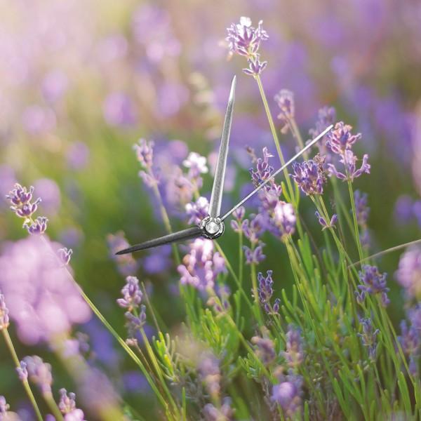 Lavendel - Wanduhr