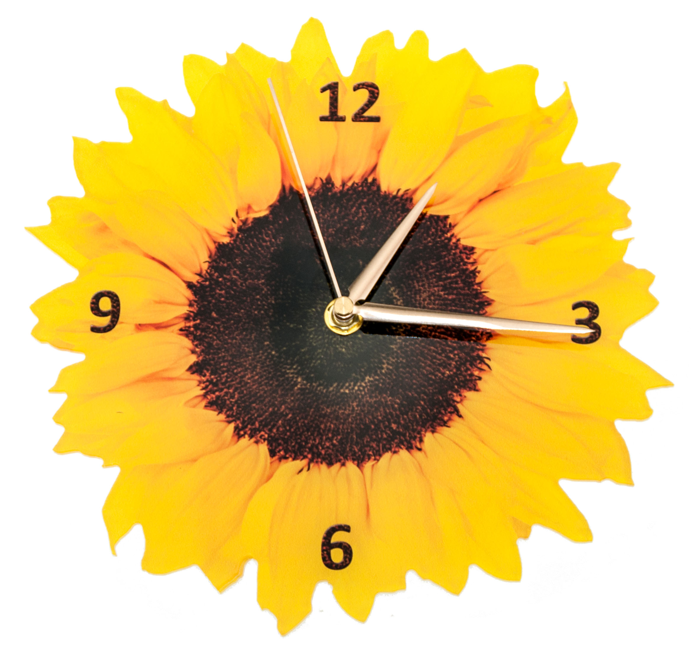 Sonnenblumen uhr - Relojes decorativos para salon ...