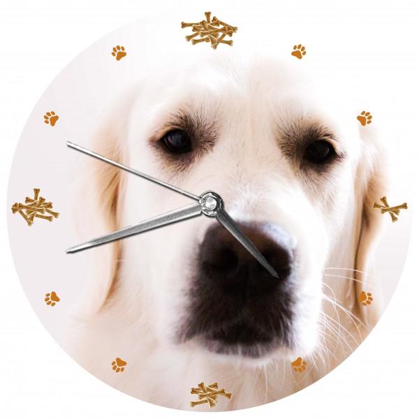"""Hunde Uhr """"Golden Retriever"""" Variante 2"""